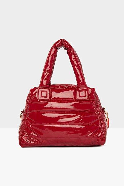 Kadın Kırmızı Üç Bölmeli Şişme Çanta M000005141