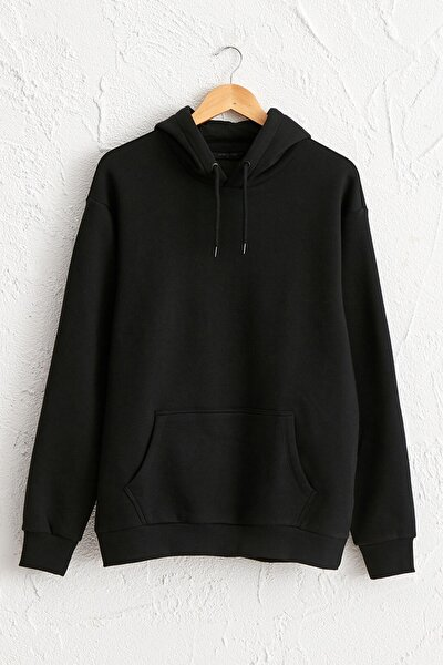 Erkek Yeni Siyah Sweatshirt 0WBK22Z8