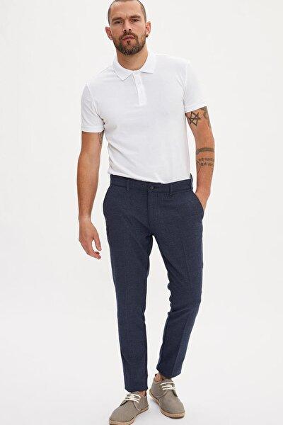 Erkek Lacivert Tailored Fit Chino Pantolon K3250AZ.19SM.NV64