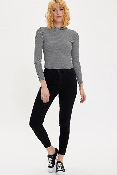 Kadın Siyah Kot Anna Yüksek Bel Super Skinny Jean Pantolon L0595AZ.20SP.NM40