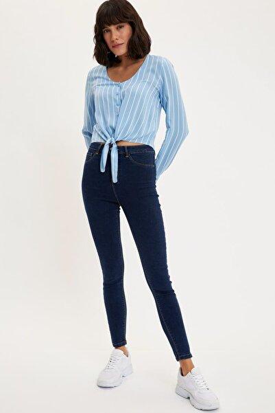 Kadın Mavi Kot Anna Yüksek Bel Super Skinny Jean Pantolon L0595AZ.20SP.NM34