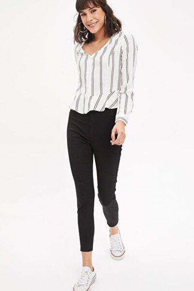 Kadın Siyah Anna Super Skinny Dokuma Pantolon M2223AZ.20SM.BK27