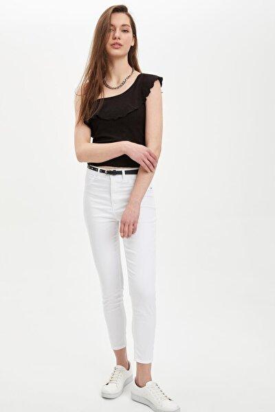 Kadın Beyaz Anna Super Skinny Dokuma Pantolon M2223AZ.20SM.WT34