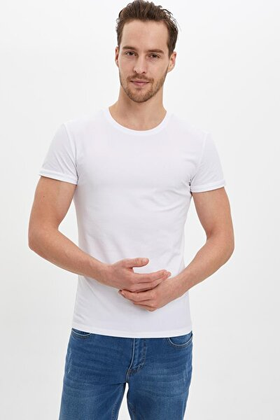 Erkek Beyaz Basic Slim Fit Body M4820AZ.20SP.WT34