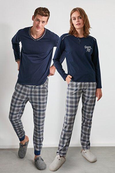 Ekoseli Örme Pijama Takımı THMAW21PT0403