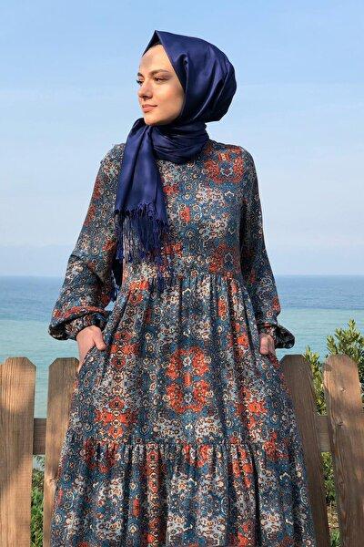 Kadın Lacivert Duru Elbise