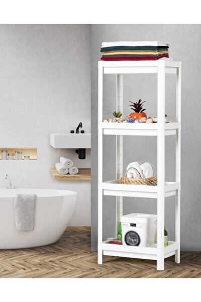 Beyaz Vesken Çok Amaçlı Modern Banyo Raf Düzenleyici Organizer