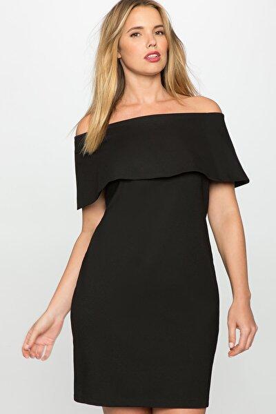 Kadın Siyah Deonty Büyük Beden Elbise
