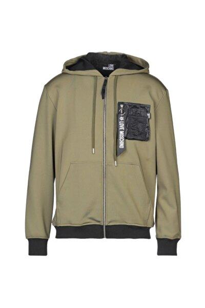 Erkek Haki Love Zipper Jacket