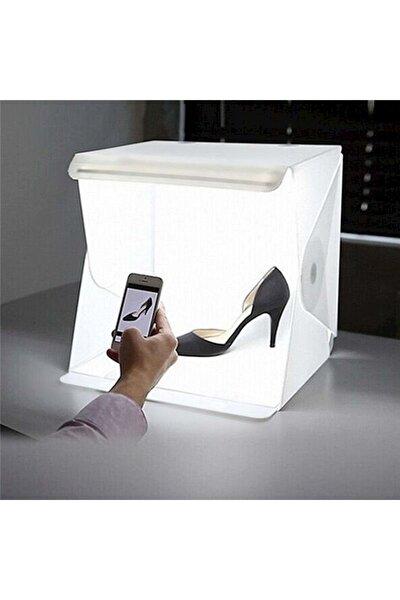 Mini Stüdyo Led Işıklı 40x40 cm Ürün Fotoğraf Çekim Çadırı Pratik Katlanabilir