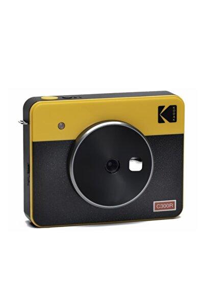 Mini Shot Combo 3 Retro - Anında Baskı Dijital Fotoğraf Makinesi - Sarı