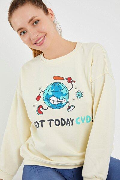 Kadın Ekru Sweatshirt