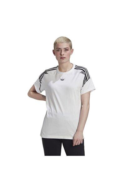 Kadın Beyaz Boyfriend Tişört
