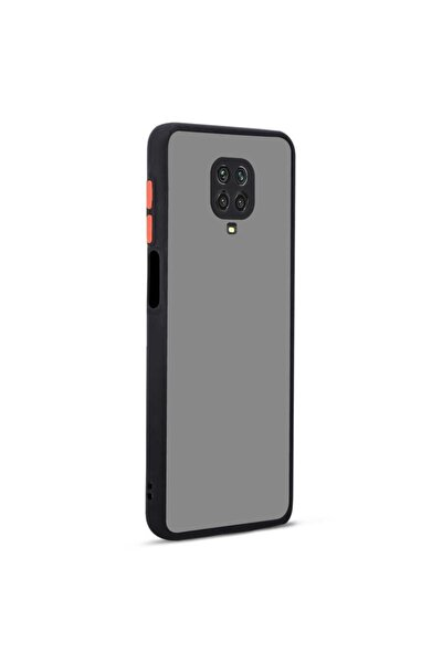 Redmi Note 9s Renkli Silikon   Siyah Kılıf