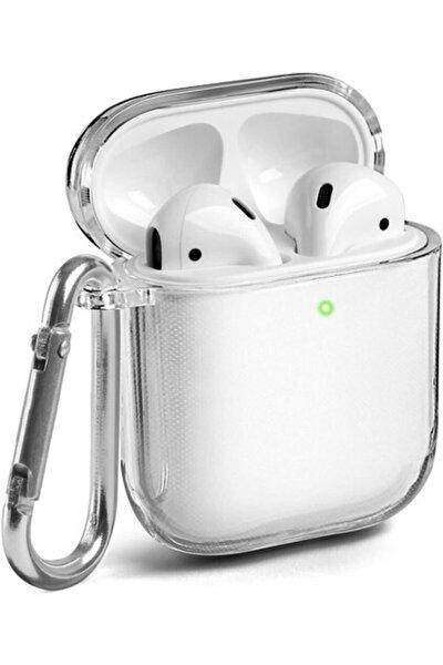 Apple Airpods 1 2 Nesil Kancalı Kulaklık Kılıfı Şeffaf