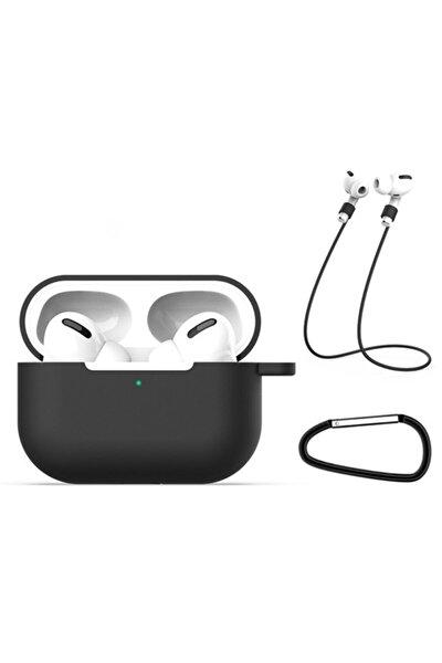 Apple Airpods Pro Için Ultra Koruma Kılıf+kulaklık Askısı+anahtarlık
