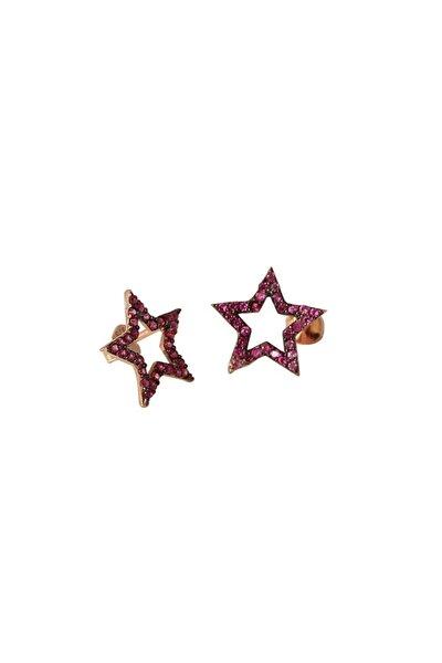 Kadın Rose  Inlove Taşlı  Yıldız Gümüş Küpe