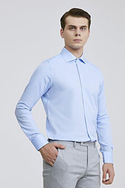 Slim Fit Mavi Renk Erkek Gömlek 2HF02ORT3185_701