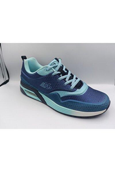 Kadın Mavi Yeşil Sneaker Ayakkabı