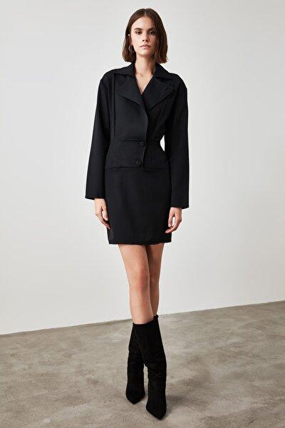 Siyah Ceket Elbise TWOAW21EL1795
