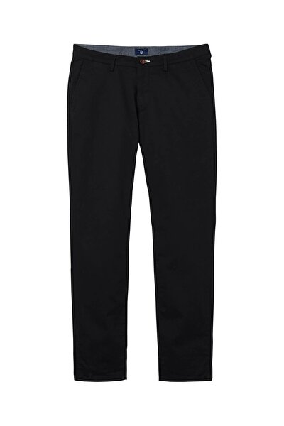 Erkek Siyah Slim Fit Chino Pantolon 1500156