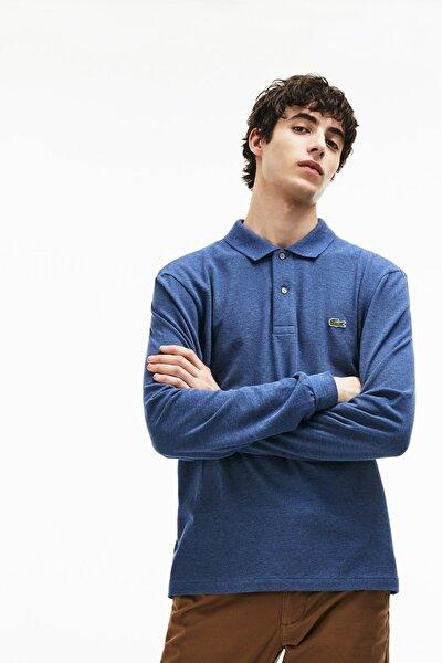 Erkek Klasik Fit Uzun Kollu Lacivert Polo Yaka T-Shirt
