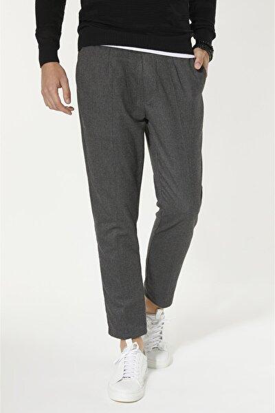 Yandan Cepli Düz Slim Fit Pantolon
