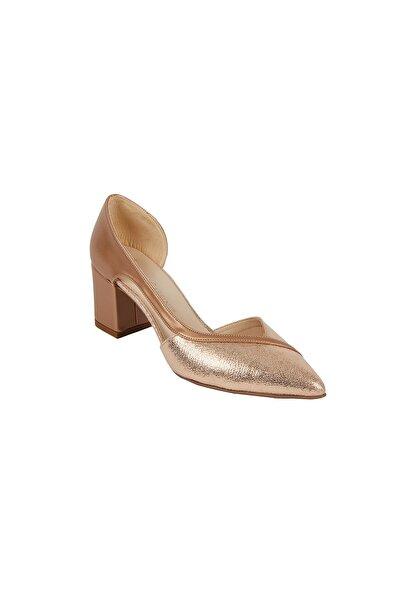 Kadın Bronz Rengi Topuklu Abiye Ayakkabı ANNA