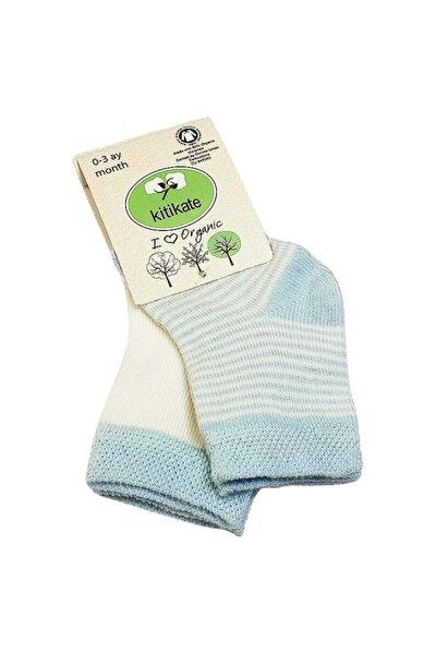 Bebek Mavi Organik Çorabı 0-3 Ay 2 Li