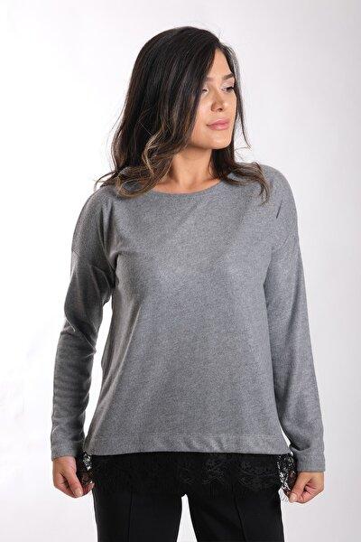 Kadın Eteği Dantelli Yumoş Bluz