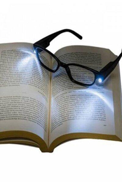 Siyah Led Işıklı Kitap Okuma Gözlüğü