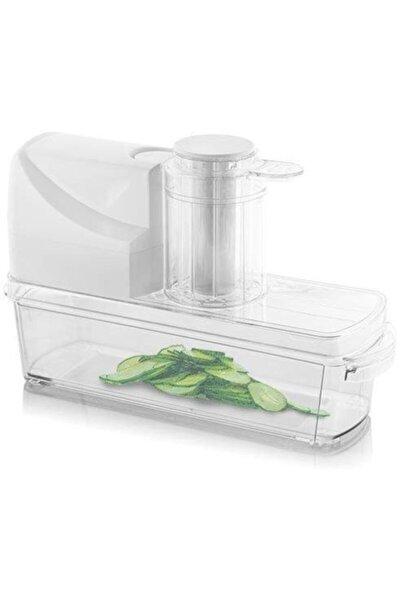Beyaz Kompakt Sebze Dilimleme Makinesi
