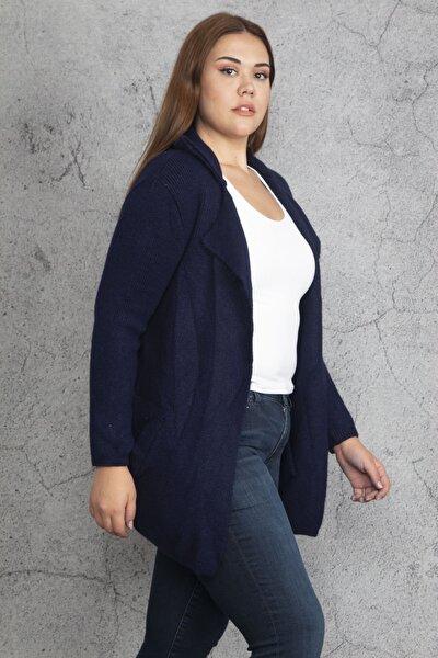 Kadın Lacivert Triko Hırka 65N19341