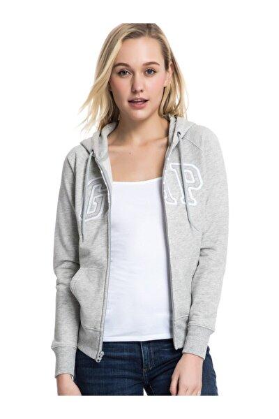 Kadın Logo Kapüşonlu Sweatshirt