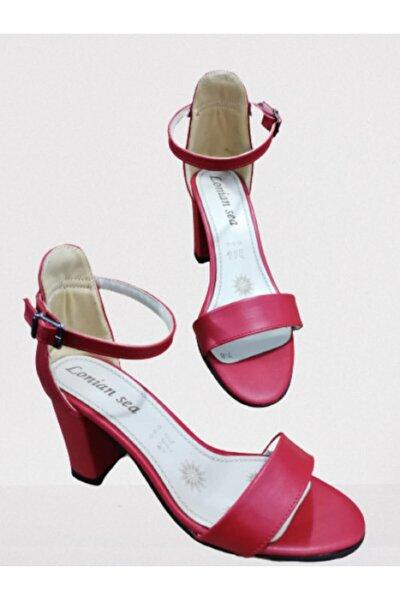 Kadın Kırmızı Topuklu Ayakkabı Y01-01