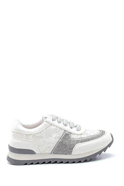 Kadın Beyaz Dantel Detaylı Sneaker