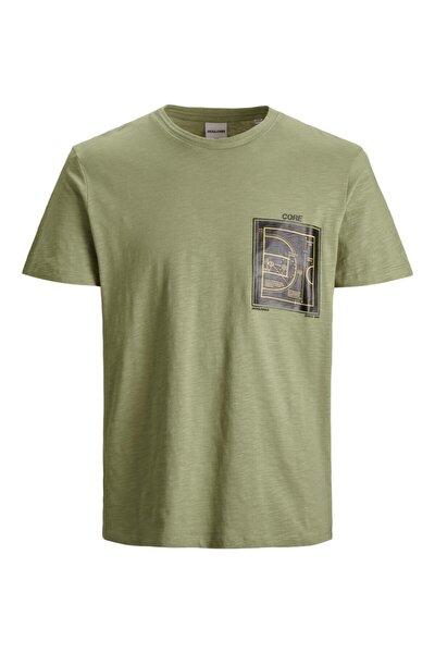 Jack Jones Attack Tee Ss Crew Neck Erkek Yeşil Tshirt 12188021-21