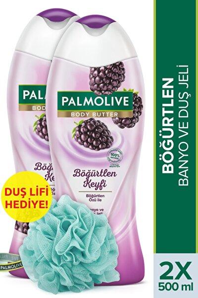 Body Butter Böğürtlen Keyfi Banyo Ve Duş Jeli 500 ml X 2 Adet Duş Lifi Hediye