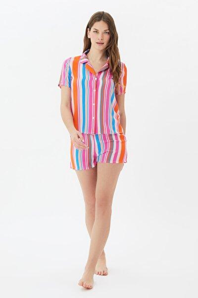 Çizgili Dokuma Pijama Takımı THMSS21PT1031