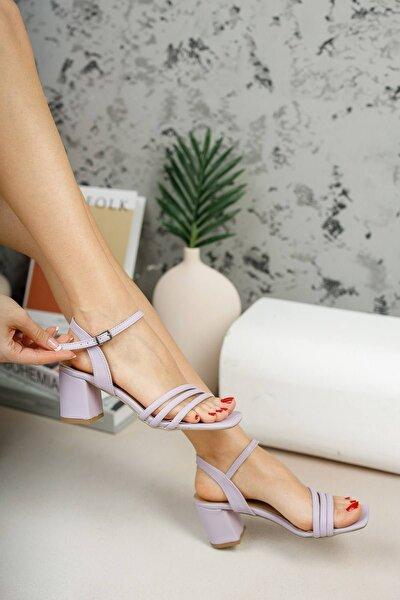 ® Kadın Biyeli Lila Klasik Topuklu Ayakkabı