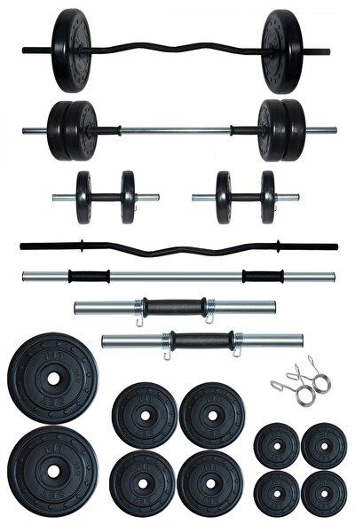 58 kg Z Barlı Halter Seti Ve Dambıl Seti Ağırlık Fitness Seti