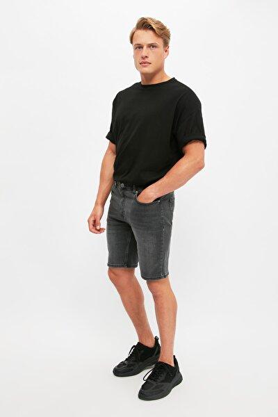 Gri Erkek Slim Fit Şort & Bermuda TMNSS21SR0485