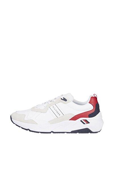 Erkek Beyaz Sneaker Premium Leather Runner Detail FM0FM03428