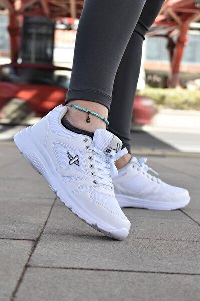 Beyaz Rahat Kalıp Spor Ayakkabı