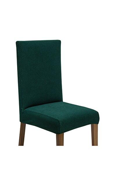 Latuda Likralı Yıkanabilir Sandalye Kılıfı   Sandalye Örtüsü Zümrüt 6 Adet
