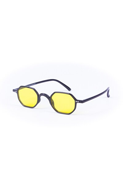 Slim Hexagon C1001 Siyah Sarı Güneş Gözlüğü