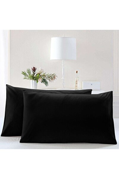 Noir Siyah Yastık Kılıfı 2li Set %100 Pamuk (50x70)