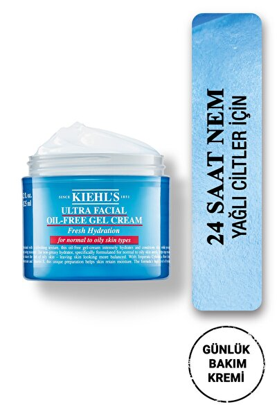 Ultra Facial Oil-free Yağlı Ciltler Için 24 Saat Nemlendiren Gözenek Karşıtı Jel Krem 125 ml