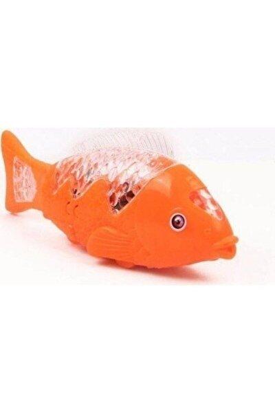 Müzikli Işıklı Yürüyen Balık 23 Cm Turuncu