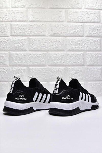 -siyah-beyaz-termo Taban - Infinite Baskılı Çocuk Günlük -sneaker, Yürüyüş Ayakkabı